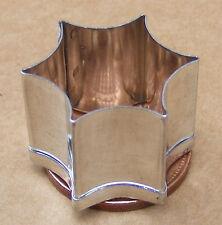 1 x Metal Hexagonal Clay Cutter Dolls House Miniature Sugarcraft 2.2cm diameter