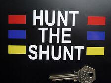 HUNT THE SHUNT James Hunt Helmet STICKER F1 Formula One Racing Car Decal Vinyl