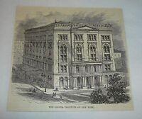 1877 magazine engraving ~ COOPER INSTITUTE OF NEW YORK