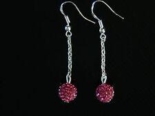 Shamballa Fashion Drop Earrings 6 Colours of Crystal Disco Ball CC149