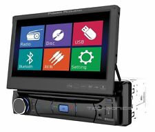 "POWER ACOUSTIK PD-701B 7"" FLIP OUT CD DVD BLUETOOTH CAR STEREO RECEIVER RADIO"