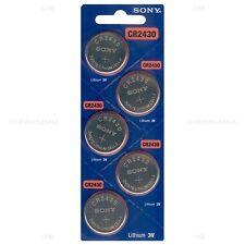 100 NEW SONY CR2430 3V Lithium Coin Battery Expire 2027 FRESHLY NEW - USA Seller