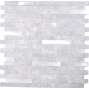 Selbstklebender Wandbelag Steinoptik zementgrausilber 200-4GS I10Mosaikmatten