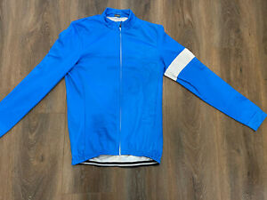 Team Sky Cycling Jacket Full Zip Blue and White Size XL w/zippered rear pocket