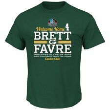 NWT Men's Green Bay Packers Brett Favre Hall of Fame Hometown Tee Shirt. Size L.