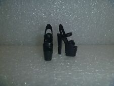Barbie Shoes - Black Extreme Platform Stiletto Heel Pole Dancer Style Rare