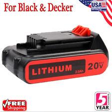 For Black & Decker 20V Lithium Ion Battery 20 Volt Li-Ion LBXR20 LB20 2.0 Ah New