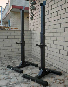 Adjustable Squat Rack Bench Press Weight Lifting Barbell Stand Home Gym Fitness