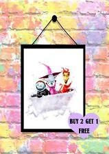 BUY 2 GET 1 FREE Nightmare Before Christmas Lock Shock & Barrel Print Poster A4