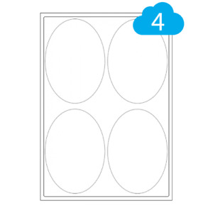500 Sheets - Oval Shape White Paper Labels - A4 Laser & Inkjet Printer Stickers