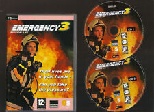 EMERGENCY 3 MISSION LIFE. EXCELLENT SIMULATION/REAL TIME STRATEGY GAME FOR PC!!