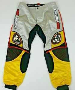 Thor MX Black Yellow Motocross Racing Pants Youth Size 36