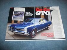 "1966 Pontiac GTO Sport Coupe Article ""GO-Go GTO"" Tri-Power"