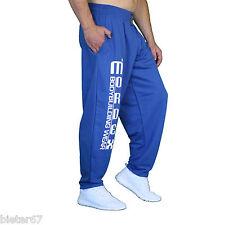blaue Bodybuilding Gym Hose Sporthose Freizeithose MORDEX BW
