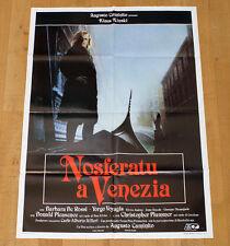 NOSFERATU A VENEZIA poster manifesto Klaus Kinski Christopher Plummer Horror