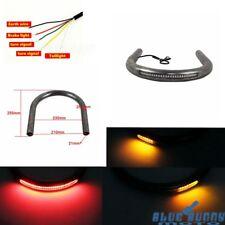 Cafe Racer Rear Seat Frame Hoop Loop LED Brake Light Steel 235mm For Suzuki GS