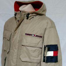 VTG 90s Tommy Hilfiger Utility Jacket 90s Ski Flag Coat Jeans Winter Hip Hop XL