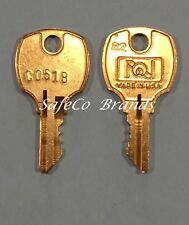 Sentry File Cabinet / Safe Keys Codes C051B thru C100B 2-Keys by SafeCo Brands