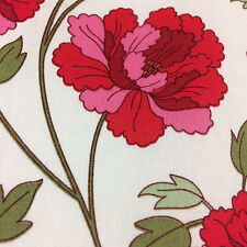 Red Poppy Cotton Fabric, dresses, summer clothes girls, Rose and Hubble