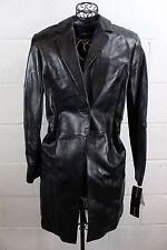 EMANUEL UNGARO Black Soft Lamb Leather Quarter Length Coat Jacket M NWT