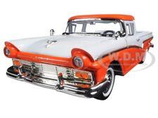1957 FORD RANCHERO PICKUP ORANGE 1/18 DIECAST MODEL CAR BY ROAD SIGNATURE 92208