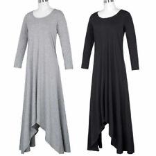 Robes maxis à motif Uni pour femme