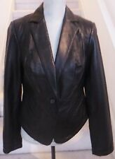 Black INC International Concepts Leather Jacket, Sz M