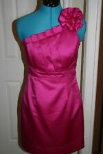 Phoebe Couture PINK Cocktail DRESS One Shoulder SIZE 6 Bridesmaid, Wedding, Prom