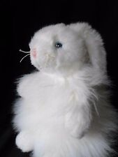 "Ty Classic 11"" Plush 2001 Cashmere Blue Ribbon White Bunny Rabbit Retired"