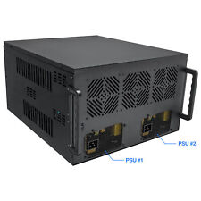 8 GPU Mining Case Frame, Supports Dual PSU's, 4U Chassis Miner Crypto