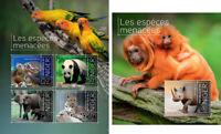 Animals Monkeys Elephants Rhinos Turtles Birds Pandas Fauna Niger MNH stamp set