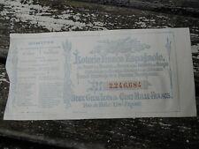 """billet de loterie Franco-Espagnole """" Murcie """"le Patronage de la Presse Française"""