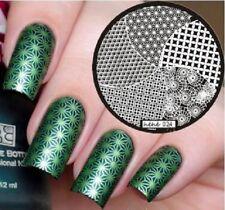 Arte de uñas imagen Planchas para Estampar placa Decoracion Sirena Remolinos círculos (jeje 24)