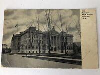 Postcard Syracuse NY 1908 High School Vintage Stamped Post Card New York