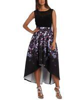 R & M Richards Floral-Print High-Low Dress MSRP $109 Size 8 # 1B 986 NEW