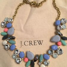 J Crew factory Colorful gemstone collage necklace NWT comes with J Crew bag