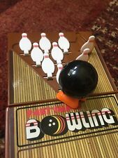 Complete Working Vintage Tomy PartyMate Bowling Wind-Up Travel Game Ball Pins