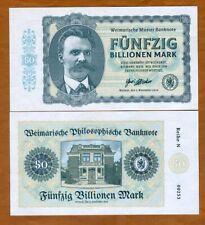 Germany, 50 Billion Mark, Private Issue Note, 2019, N-Serie, Friedrich Nietzsche
