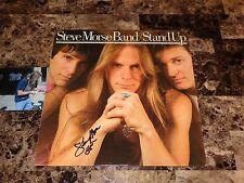 Steve Morse Band Signed Vinyl LP Record Stand Up Deep Purple Dixie Dregs + COA