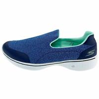 Skechers Womens Go Walk 4 14937 Blue Sneakers Shoes Slip on Low Top Size 9