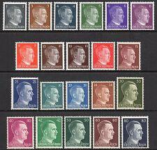 Alemania 3rd Reich Segunda Guerra Mundial 1941-1944 Adolf Hitler cabeza problema Fine Mint Nh/estampillada sin montar o nunca montada