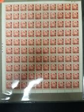 Greenland #B2 30ore + 10ore on 25ore Ovpt, Complete sheet of 100 Nh, Scott $525+