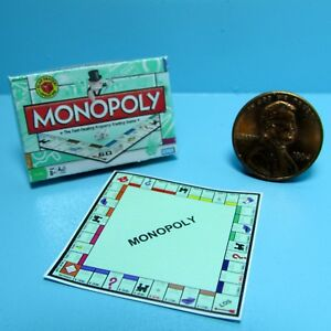 Dollhouse Miniature Detailed Replica Monopoly Board Game and Box BG003