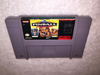 Super Pinball Behind the Mask (Super Nintendo, 1992) SNES Game Cartridge Vr Nice