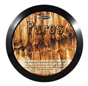 Puros Shaving Soap - RAZOROCK Italy - Scent Tobacco Musk Leather Vanilla/Coconut