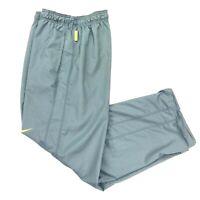 Nike LiveStrong Men's Dri-Fit Training Workout Pants Gray/Yellow • MEDIUM
