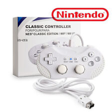 Wired Classic Controller For Nintendo Wii Remote White US Ship