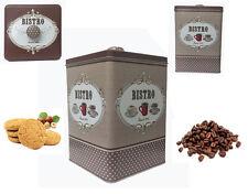 Imperdibile scatola latta biscottiera barattolo contenitore con coperchio bistro