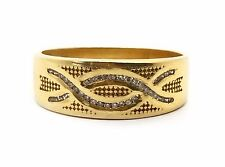18k Solid Yellow Gold 0.25 Ct Natural Round Diamond 7.5 mm Mens Ring Size 6.75