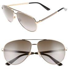 GUCCI Aviator Sunglasses GG 4239/S DZBED Metal Gold White Ivory Brown Gradient
